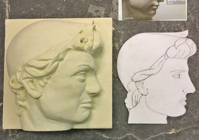 Stone carving sculpture relief courses katherine
