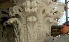 Architectural Corinthian capital - Portland stone