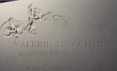 Letter carving - embellished design - Katherine Worthington