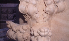 Architectural stone carved finial