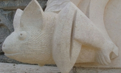 Simplistic bat carving