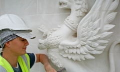 Carving - griffin statue