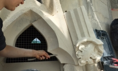 Katherine stone carving the tracery stone