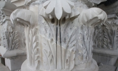 Circular Portland stone capitals - repairs