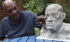 Darcus Howe noting a family resemblance in the eyes