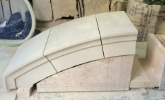 Stone masonry wooden arch - testing