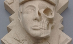 First prize - winning college stone carving competition