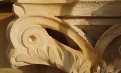 Architectural bath stone scroll