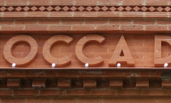 Carved raised letters