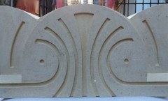 Art deco coping stone - Bath stone