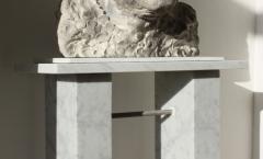 Bespoke marble plinth by Katherine Worthington