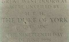 Plaque Unveiled - HRH Duke of York - Katherine Worthington