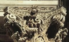 Volutes installed - Portland stone capitals