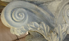 Architectural volute - carved leaves