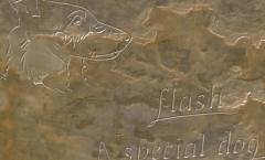 Pet memorial stone - Flash