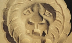 Lions mask for stone cornice