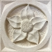 Architectural relief flower panel you will carve on the course