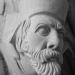 Carved Medieval Bishop and Architects Portraits